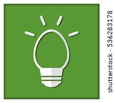 the emblem of the bulb on green ... | Shutterstock .eps vector #536283178