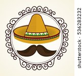 mexican culture traditional... | Shutterstock .eps vector #536283232