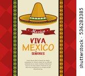 viva mexico poster celebration | Shutterstock .eps vector #536283385