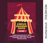 banner circus amazing show.... | Shutterstock .eps vector #536284186
