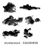 Collection Black Clouds Smoke Isolated - Fine Art prints