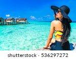 portrait of happy young woman... | Shutterstock . vector #536297272