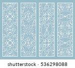 decorative doodle lace borders... | Shutterstock .eps vector #536298088