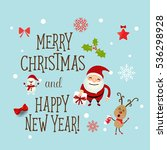 christmas greeting card with... | Shutterstock .eps vector #536298928