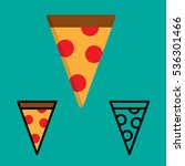 pizza vector and outline icon