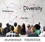 difference variety diversity... | Shutterstock . vector #536303326