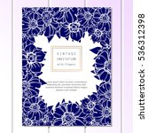 romantic invitation. wedding ... | Shutterstock . vector #536312398