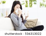 Young Woman Infected With Cold...