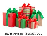green and red gift box with a... | Shutterstock . vector #536317066