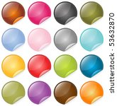vector beautiful glassy icons... | Shutterstock .eps vector #53632870