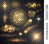 set glows bright star light... | Shutterstock .eps vector #536337286