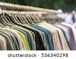 the fashion clothing on hangers ... | Shutterstock . vector #536340298