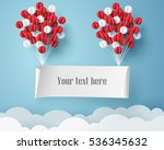 paper art of signboard hang on... | Shutterstock .eps vector #536345632