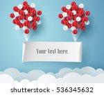 paper art of signboard hang on...   Shutterstock .eps vector #536345632