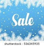 winter sale banner  vector... | Shutterstock .eps vector #536345935
