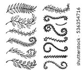 vector set of hand drawn... | Shutterstock .eps vector #536354716