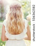 woman with blonde hair in white ... | Shutterstock . vector #536362582