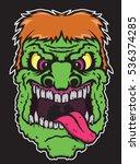 green zombie | Shutterstock .eps vector #536374285