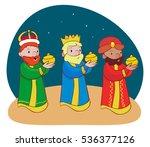 three  wise men  vector  jesus  ... | Shutterstock .eps vector #536377126