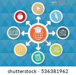 education info graphic clean... | Shutterstock .eps vector #536381962