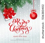 merry christmas banner  vector... | Shutterstock .eps vector #536383402