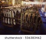 shoe making process in footwear ... | Shutterstock . vector #536383462
