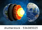 3d illustration showing layers...   Shutterstock . vector #536385025