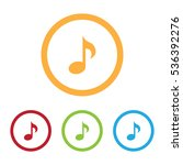 colorful music note icons with... | Shutterstock .eps vector #536392276
