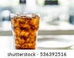 iced cola glass on the table | Shutterstock . vector #536392516
