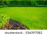 green lawn  garden landscape... | Shutterstock . vector #536397082