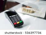 pos terminal in the shop. | Shutterstock . vector #536397736