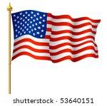 american flag | Shutterstock .eps vector #53640151