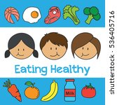 eating healthy for kids... | Shutterstock .eps vector #536405716