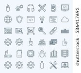 line programming icons. vector...