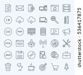 line coding icons. vector...