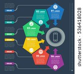 vector infographic of... | Shutterstock .eps vector #536418028