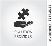 label of solution provider or...   Shutterstock .eps vector #536418196