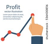 profit concept  growing... | Shutterstock .eps vector #536430856