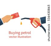buying petrol  concept. payment ... | Shutterstock .eps vector #536430865