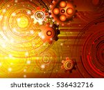background with gears. raster... | Shutterstock . vector #536432716