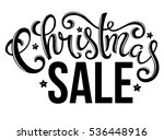christmas sale poster with hand ... | Shutterstock . vector #536448916