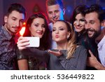 woman taking a selfie with all... | Shutterstock . vector #536449822