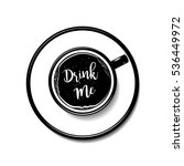 coffee top view latte art... | Shutterstock .eps vector #536449972
