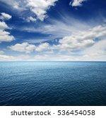 blue sea water surface on sky | Shutterstock . vector #536454058