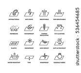 fabric textile properties thin... | Shutterstock . vector #536454685