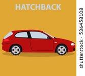 car hatchback vehicle transport ... | Shutterstock .eps vector #536458108
