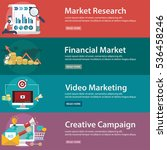 video and creative marketing ... | Shutterstock .eps vector #536458246