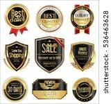 premium and luxury golden retro ... | Shutterstock .eps vector #536463628