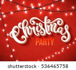 christmas party poster with... | Shutterstock . vector #536465758