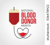 national blood donor month  ... | Shutterstock .eps vector #536478922